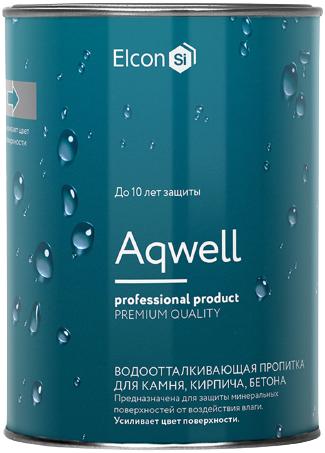 Elcon Aqwell силиконовый гидрофобизатор пропитка с эффектом мокрого камня (9 л) бесцветный