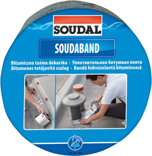 Уплотнительная битумная лента Soudal Soudaband (100 мм*10 м/1.5 мм) коричневая