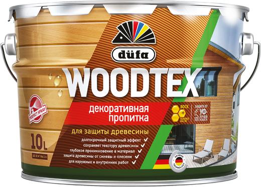 Dufa Woodtex декоративная пропитка для защиты древесины (10 л) сосна