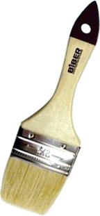 Кисть флейцевая Бибер Стандарт (50 мм) натуральная дерево