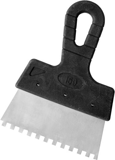 Шпатель фасадный зубчатый Бибер (150 мм) (зубцы 10 * 10 мм)