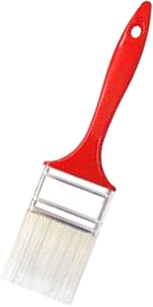 Кисть плоская акриловая Beorol Акрил (40 мм*15 мм) комбинированная (натуральная и искусственная)
