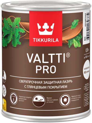 Тиккурила Валтти Про сверхпрочная защитная лазурь с глянцевым покрытием (9 л) бесцветная