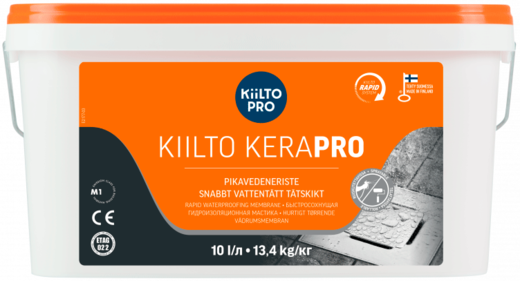 Kiilto Kerapro быстросохнущая гидроизоляционная мастика (5 л) оранжевая