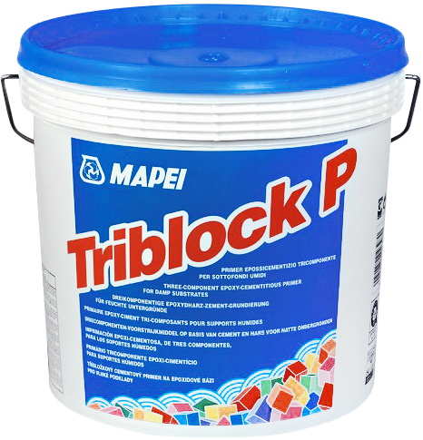 Mapei Triblock P трехкомпонентный грунтовочный состав на основе эпоксидной смолы и цемента