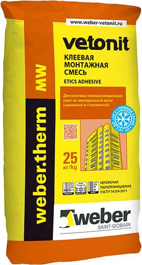 Вебер Ветонит Therm MW Winter клеевая монтажная смесь (25 кг)