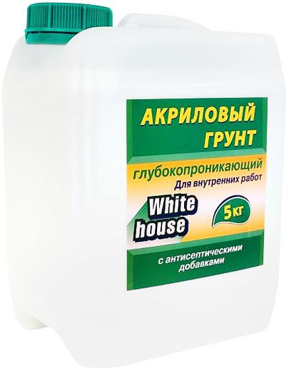 White House акриловый грунт глубокопроникающий для внутренних работ (10 кг)