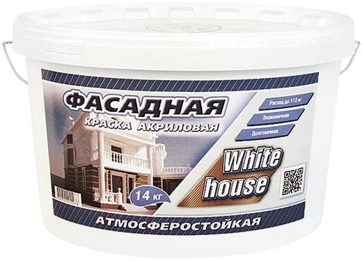 White House краска акриловая фасадная воднодисперсионная (14 кг) белая