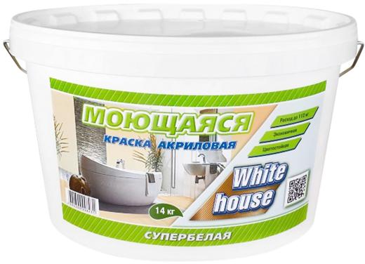 White House краска акриловая моющаяся воднодисперсионная (3.5 кг) супербелая