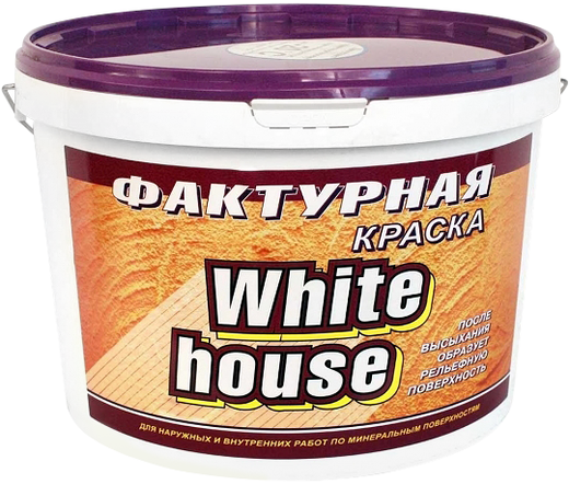 White House фактурная краска (9 кг) белая