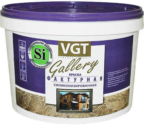 ВГТ Gallery Фактурная краска силиконизированная (25 кг) белая