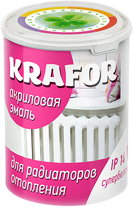 Крафор акриловая эмаль для радиаторов отопления (1 кг) супербелая