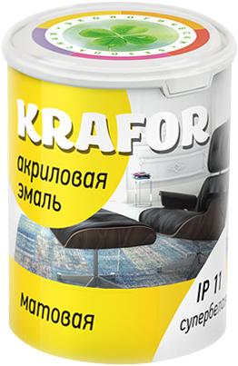 Крафор эмаль акриловая для наружных и внутренних работ (3 кг) супербелая матовая