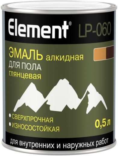 Alpa Element LP-060 эмаль алкидная для пола глянцевая сверхпрочная износостойкая (1.8 л) красно-коричневая