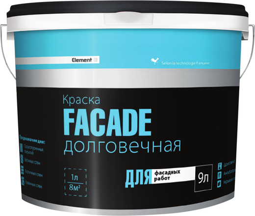 Alpa Element SE Facade краска долговечная для фасадных работ (9 л) белая