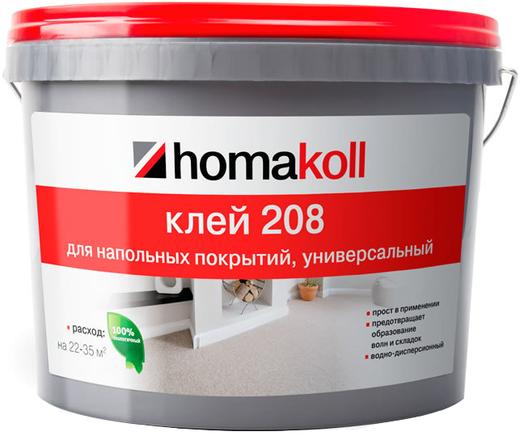 Homa Homakoll 208 клей для гибких напольных покрытий универсальный (14 кг)