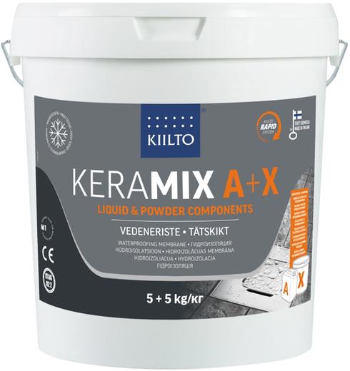 Kiilto Keramix A+X двухкомпонентная гидроизоляционная мастика