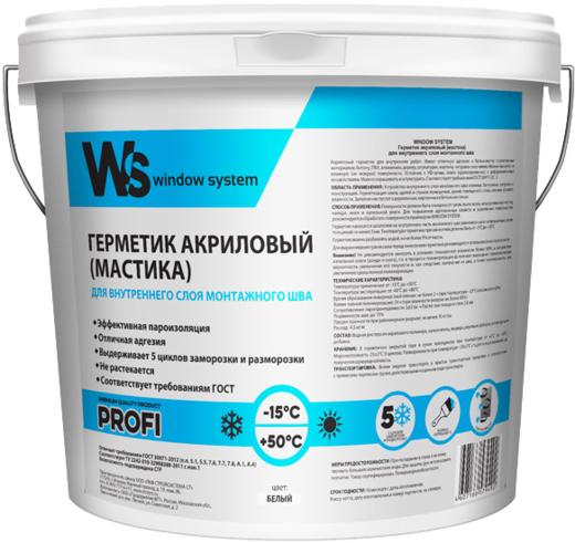 WS Profi герметик акриловый для внутреннего слоя монтажного шва (7 кг) белый