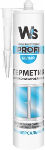 WS Profi герметик силиконизированный универсальный (310 мл) белый