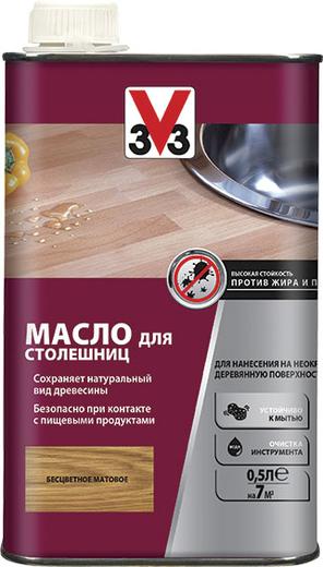 V33 масло для столешниц для нанесения на неокрашенную деревянную поверхность