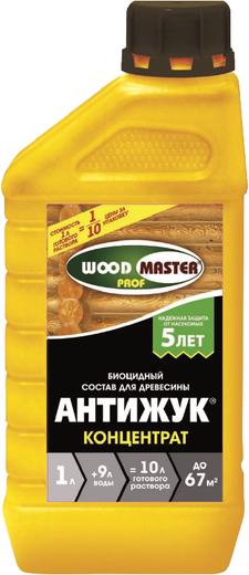 Woodmaster Prof Антижук биоцидный состав для древесины концентрат (1 л) бесцветный