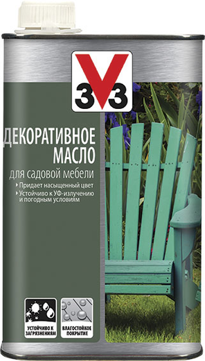 V33 декоративное масло для садовой мебели (500 мл) венге