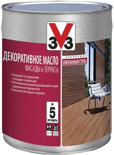 V33 Фасады и Террасы декоративное масло (2.5 л) орех
