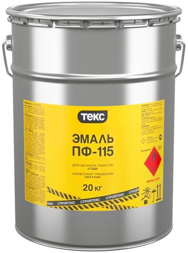 Текс Стройтекс ПФ-115 эмаль для профессионалов (20 кг) белый