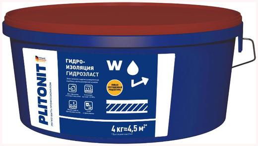 Плитонит Аквабарьер Гидроэласт эластичная гидроизоляционная мастика на полимерной основе