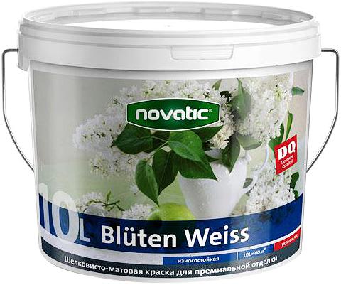 Feidal Novatic Bluten Weiss краска акриловая шелковисто-матовая для премиальной отделки (2.5 л) белая