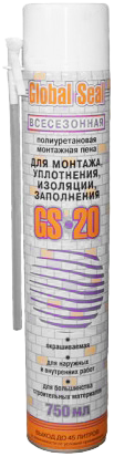 Iso Chemicals GS20 Global Seal полиуретановая монтажная пена для монтажа, уплотнения, изоляции, заполнения