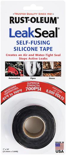 Leakseal self-fusing silicone tape силиконовая для герметизации, электроизоляции и быстрого ремонта течи 25.4 мм*3.04 м