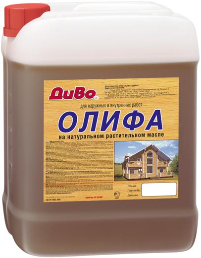 Диво ПВ олифа оксоль на натуральном растительном масле (5 л) светло-желтая