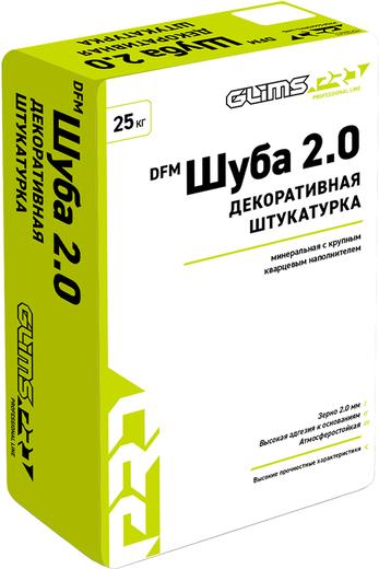 Глимс-Pro DFM Шуба 2.0 декоративная штукатурка с крупным кварцевым наполнителем (25 кг)
