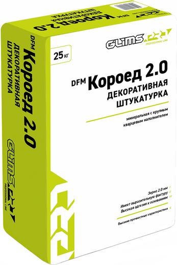 Глимс-Pro DFM Короед 2.0 декоративная штукатурка с крупным кварцевым наполнителем (25 кг)