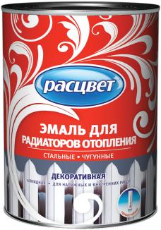 Расцвет эмаль для радиаторов отопления декоративная алкидная (1 кг) белая