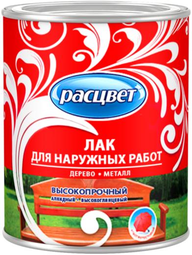 Расцвет лак для наружных работ высокопрочный алкидный (1.9 кг)