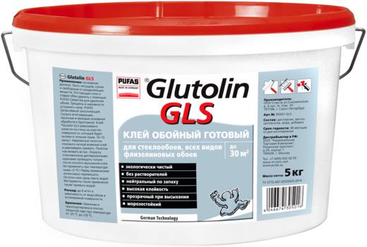 Пуфас Glutolin GLS клей обойный для стеклообоев, всех видов флизелиновых обоев (10 кг)