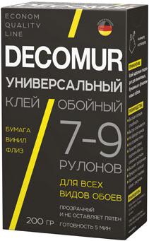 Пуфас Decomur универсальный клей обойный для всех видов обоев (200 г)