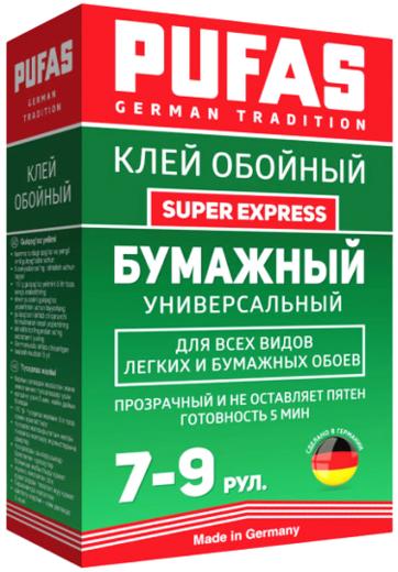 Пуфас Super Express клей обойный бумажный универсальный для всех видов легких и бумажных обоев