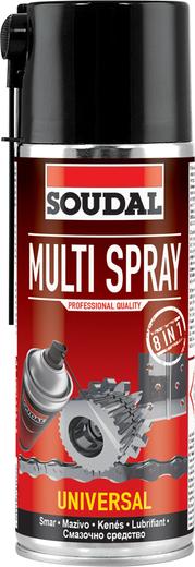 Soudal Multi Spray многофункциональная смазка (400 мл)