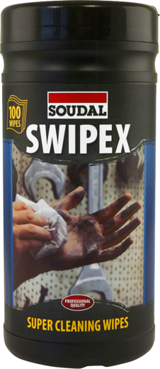 Очищающие салфетки Soudal Swipex XXL 80 салфеток в банке