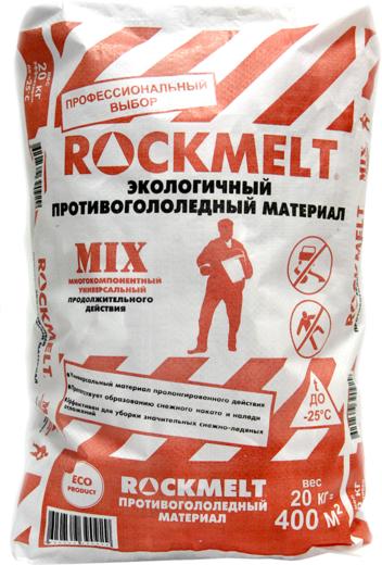Rockmelt Mix экологичный противогололедный материал многокомпонентный (20 кг)