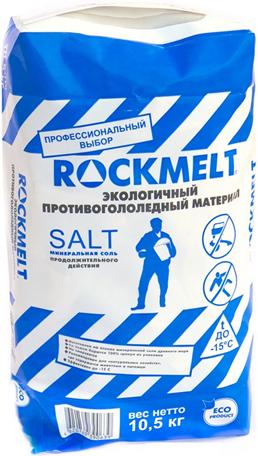 Rockmelt Salt экологичный противогололедный материал минеральная соль (20 кг)