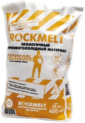 Rockmelt экологичный противогололедный материал пескосоль (20 кг)