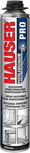 Hauser Pro всесезонная профессиональная полиуретановая пена (770 г) пистолетная