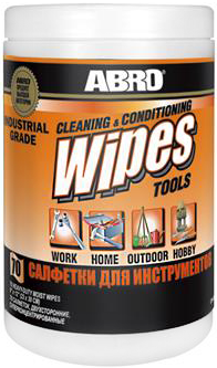 Abro Cleaning & Conditioning Wipes Tools салфетки профессиональные влажные для инструментов