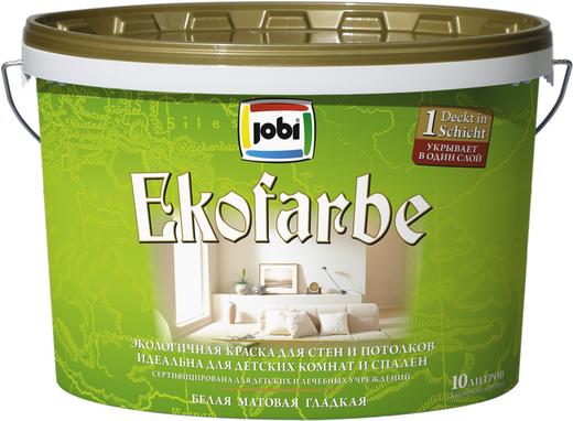 Jobi Ekofarbe экологичная краска для стен и потолков влагостойкая акриловая для спален и детских комнат
