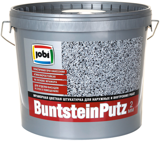 Jobi Buntsteinputz мраморная цветная штукатурка для наружных и внутренних работ