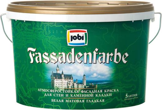 Jobi Fassadenfarbe атмосферостойкая фасадная краска для стен и каменной кладки акриловая